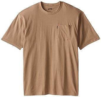 Key Apparel Men's Big-Tall Short Sleeve Heavyweight Pocket Tee Shirt, Khaki, Medium-Tall