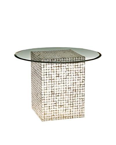 Jeffan New Hampton Glass-Top Dining Table, Natural