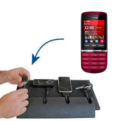 Unique Gomadic 4-Port Charging Station for the Nokia Asha 300 - Charge four devices with TipExchange Technology