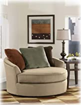 Hot Sale Laken Mocha Oversized Swivel Accent Chair