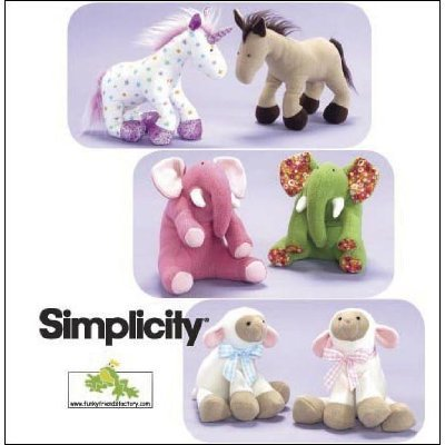 Simplicity 2921 Stuffed Animals