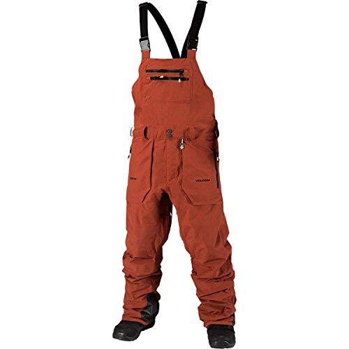 Volcom Rain Goretex Overall Snowboard Pants Rust Mens Sz L