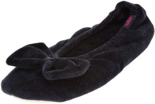 totes-97618blkl-pantofole-donna-nero-schwarz-l
