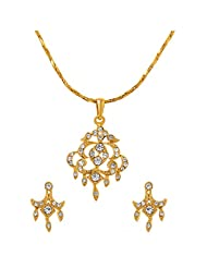 ILINA Golden Alloy Stud Jewellery Set For Women