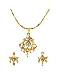 ILINA Golden Alloy Stud Jewellery Set For Women