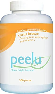 the Peelu Co. Chewing Gum, Citrus Breeze, 300-Count
