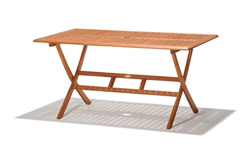 Eucalyptus Wood 6 Seater Outdoor Dining Set With