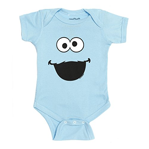 Sesame Street Cookie Monster Face Baby Romper Snapsuit