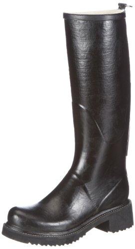 Ilse Jacobsen High Heel Gummistiefel Boots Womens Black Schwarz (Schwarz (01) 01) Size: 3 (36 EU)