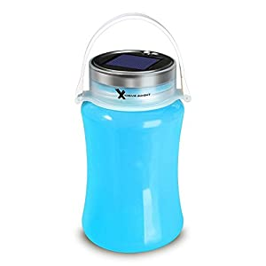 Xtreme Bright Solar Lantern and Storage Bottle w/USB Cable; Solar & USB Rechargeable - 100% Lifetime Warranty