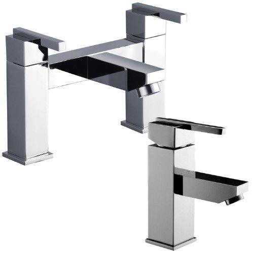 Designer Square Bath And A Monobloc Basin Mixer Tap Set (pack 1JJ)