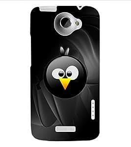 ColourCraft Cute Cartoon Bird Face Design Back Case Cover for HTC ONE X