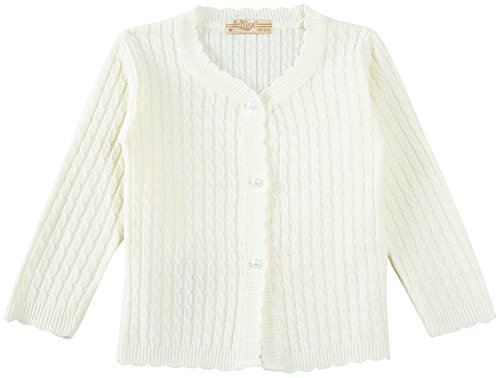 Lilax Baby Girls' Cable-Knit Cardigan Sweater 9M Cream