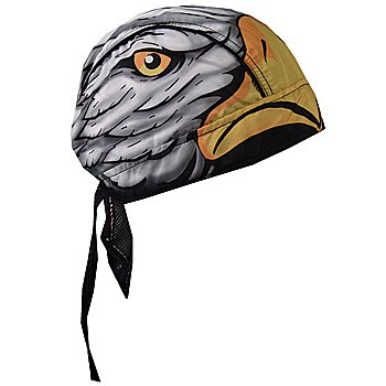 Patriotic US American Eagle Lightweight Headwrap Accessory with Sweatband