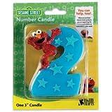 Sesame Street Elmo Number 2 Birthday Cake Candle