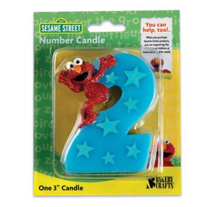 Read About Sesame Street Elmo Number 2 Birthday Cake Candle