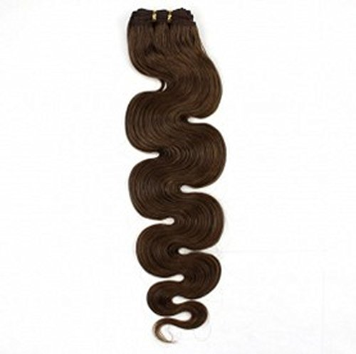 "Beauty Salon Hair 19"" 100G 100% Remy Body Wave Human Hair Extension Weft #8 Natural Light Brown"