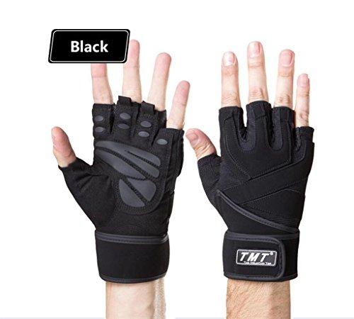 attrezzature per l'allenamento dei guanti di sport di forma fisica dei guanti all'aperto palestra manubri femminile mezze dita Bracer guanti slittamento respirabile degli uomini MLveen