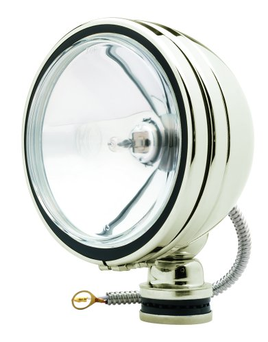 Kc Hilites 1632 Daylighter Stainless Steel 130W Single Spot Beam Light With Cover