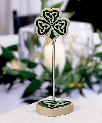 Shamrock / Trinity Love Knot Place Card Holders - Unique Wedding Favors, 30