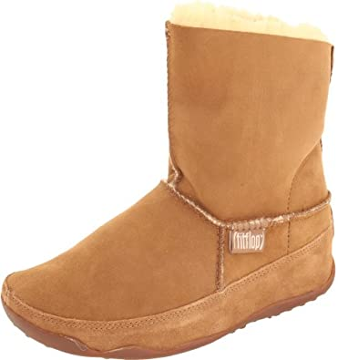 FitFlop Women's Mukluk Boot,Chestnut,5 M US