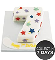 Stars Number Cake (Single Number)