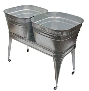 Kitchen Sink Wash Tub : Amazon.com: Twin wash tub with stand and drain: Home & Kitchen
