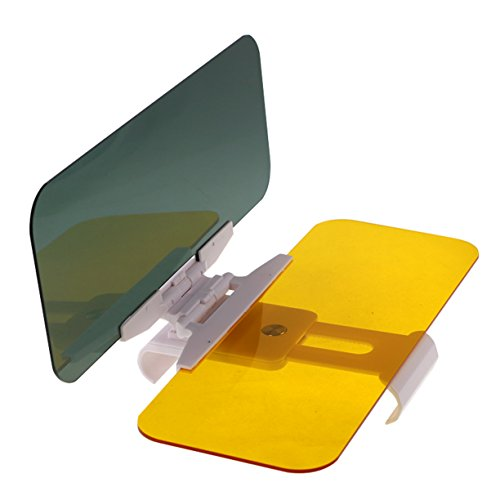 Vulcan-x 2 in 1 Car Automobile Sun Anti-UV Block Visor Day and Night Non Glare Anti-Dazzle Sunshade Mirror Goggles Shield (Sun Shade Mirror compare prices)
