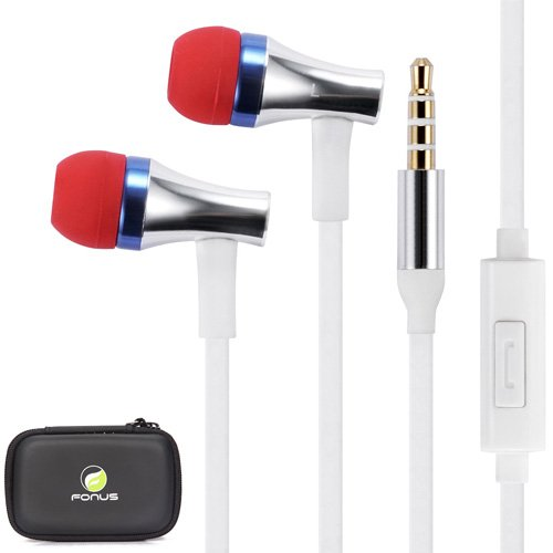 High Quality Super Bass Handsfree Headset Flat Wired Earbuds Earphones With Case For Iphone 5S / 5C / 5 / 4S /4, Ipod Touch / Nano, Ipad Mini / Air, Samsung Galaxy Tab And Note Tablets, Amazon Kindle / Fire Phone, Galaxy S5 S4 S3 S2, Htc One M8, Smartphon