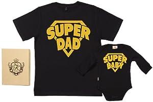 Spoilt Rotten - SuperDad & SuperBaby - 100% Bio-algodón - Papá y bebé caja de regalo Set por Spoilt Rotten