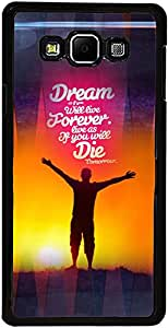 PrintVisa Case Covers for Samsung Galaxy A3 (D8023 Quotes Dreams)