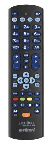 Meliconi 807180, Pratico Digital for SKY, Telecomando Universale 4-in-1, con Guscio