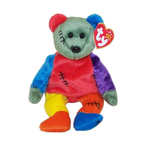 TY Beanie Baby - FRANKENTEDDY Bear (Orange & Blue Feet) (8.5 inch) - 1