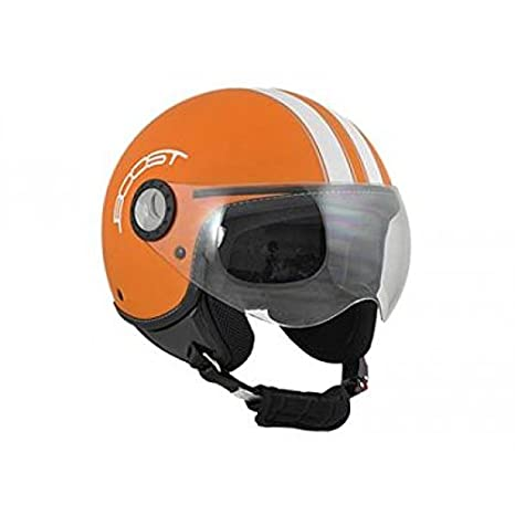 Casque boost b730 retro 2 mat orange/blanc xl - Boost BS02486