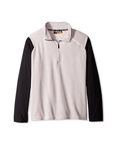 Head Men's 1/4 Zip Pro Mock Pullover, Cement, S