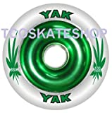 YAK Scat II Full Metal Core High Roller Performance Scooter Wheel 100mm GREEN/White
