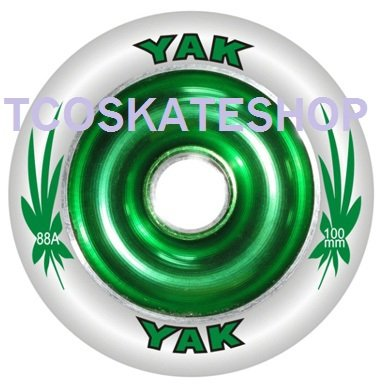 Sale!! YAK Scat II Full Metal Core High Roller Performance Scooter Wheel 100mm GREEN/White