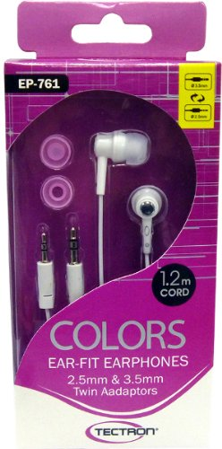 Cool Color Earphones With Twin Adaptor - Case Pack 60 Earphone Sets (60 Pieces)