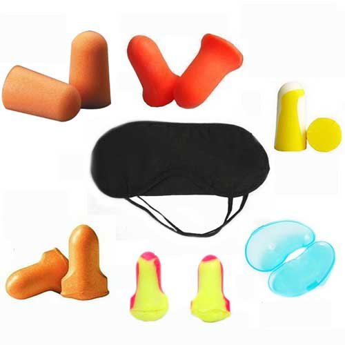 Sleep Goggles Soundproof Earplugs Professional Noise Reduction 7 Pcs Set, Ers01
