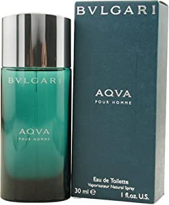 Bvlgari Aqua By Bvlgari For Men, Eau De Toilette Spray, 1-Ounce Bottle