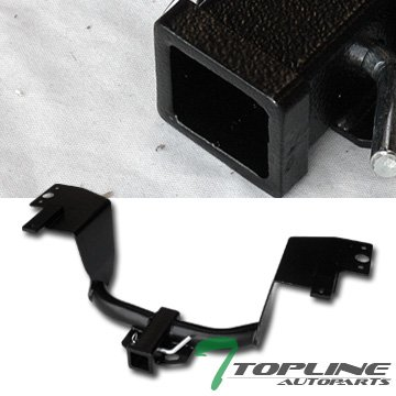 Topline Autopart Class 3 Trailer Hitch Receiver Rear Bumper Tow Kit 2