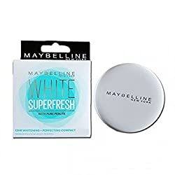 Maybelline New York White Super Fresh Compact Shell (8g) (Pack of 2)