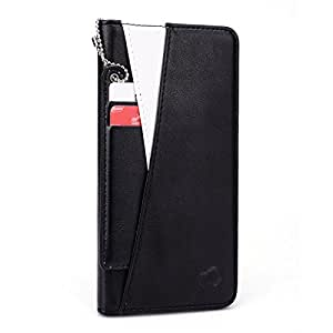 Kroo Flip Folio Wallet Case with I.D Tag Attachment for Apple iPhone 6 Plus - Non-Retail Packaging - White