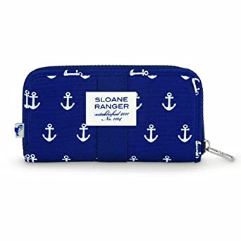 Sloane Ranger Canvas Anchor Zip Around Wallet