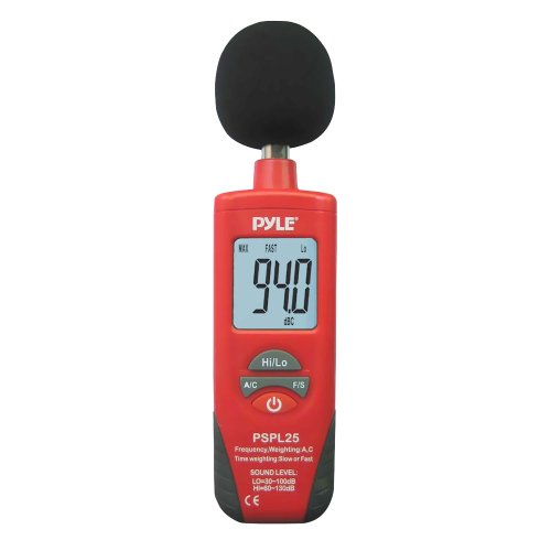 Pyle Pspl25 Digital Handheld Sound Level Meter With A And C Frequency Weighting For Musicians And Sound Audio... Black Friday & Cyber Monday 2014