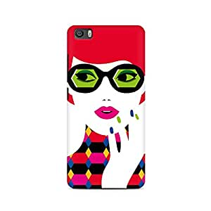 Ebby Girl With Glasses Premium Printed Case For Xiaomi Redmi Mi4i