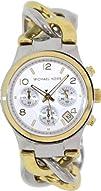 Michael Kors Twist Chain Chronograph White Dial Ladies Watch