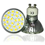 JSG Accessories� GU10 5W 24 x SMD 5050 LED Super Bright Bulb in Warm White 3200-3500K = 50W Halogen Bulbby JSG Accessories