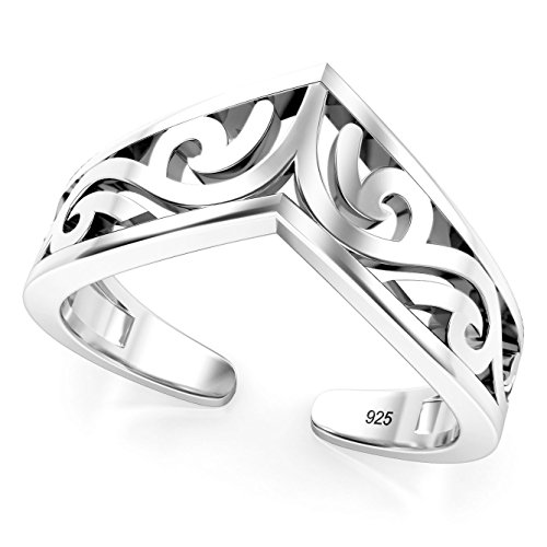 Sterling Silver Tiara Adjustable Toe Band Ring (Toe Rings And Anklets compare prices)