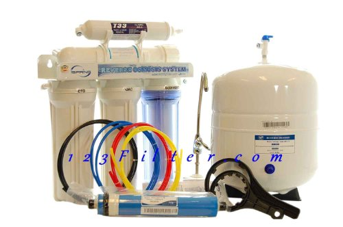 Buy iSpring 75GPD 5-Stage Reverse Osmosis Water Filter System - Comparing to Watts Premier, Crystal ...